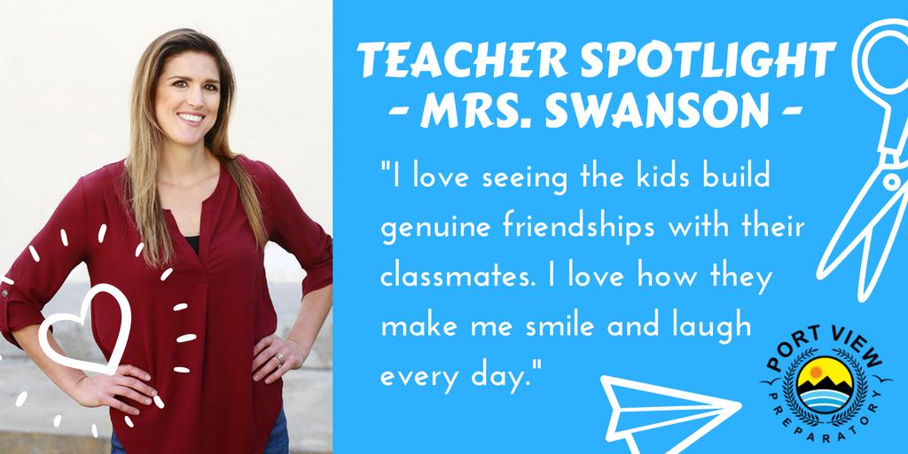 Mrs Swanson Teacher Spotlight