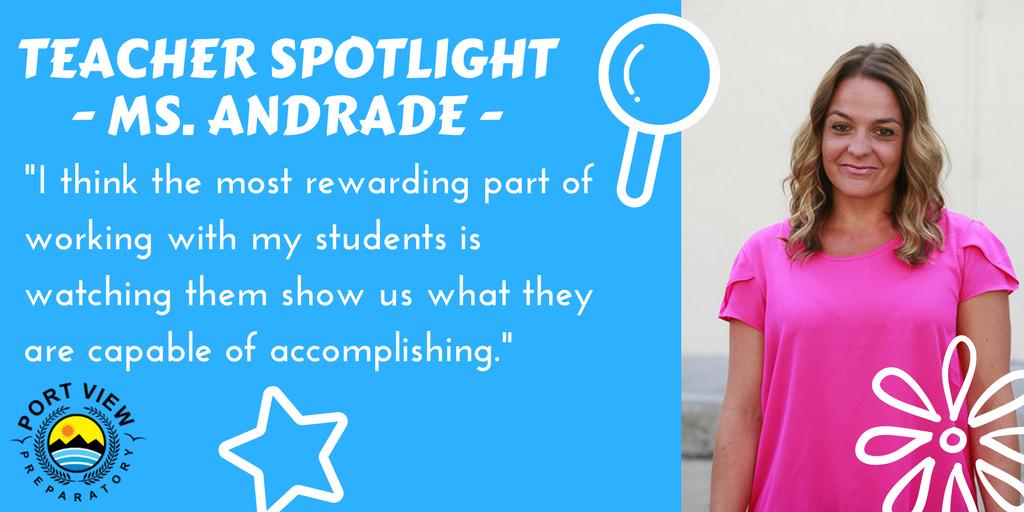 Ms Andrade Teacher Spotlight