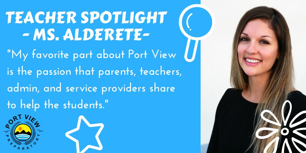 Ms. Alderete Spotlight