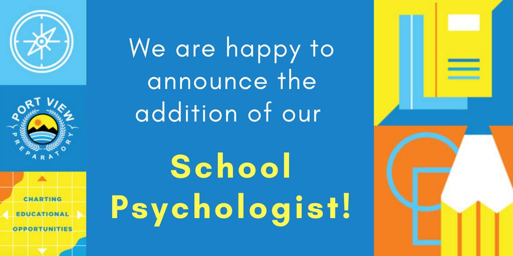 School Psychologist Announcement